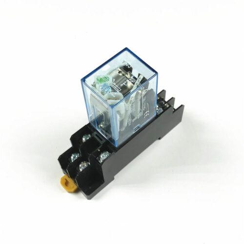 Neue Leistungsrelais 10A LY2NJ DPDT 8-Pins Mit Sockel 12V 24V DC220//230V 380V