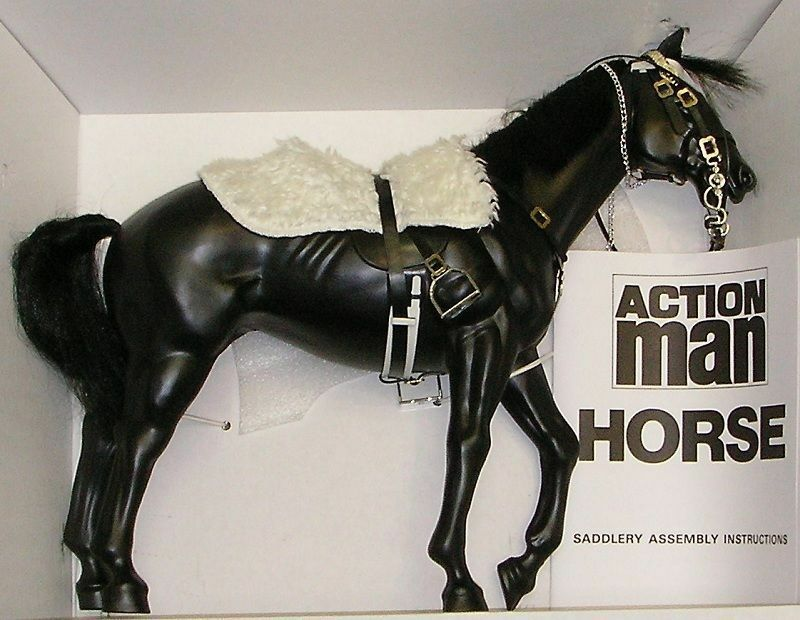 Vintage action man 40th anniversary horse no box for lifeguard bluees & royals