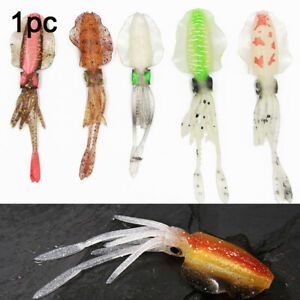 Squid-Fishing-Lure-Glow-Soft-Lure-UV-Lure-Plastic-Squid-Bait-4-3g-8-4g-14g