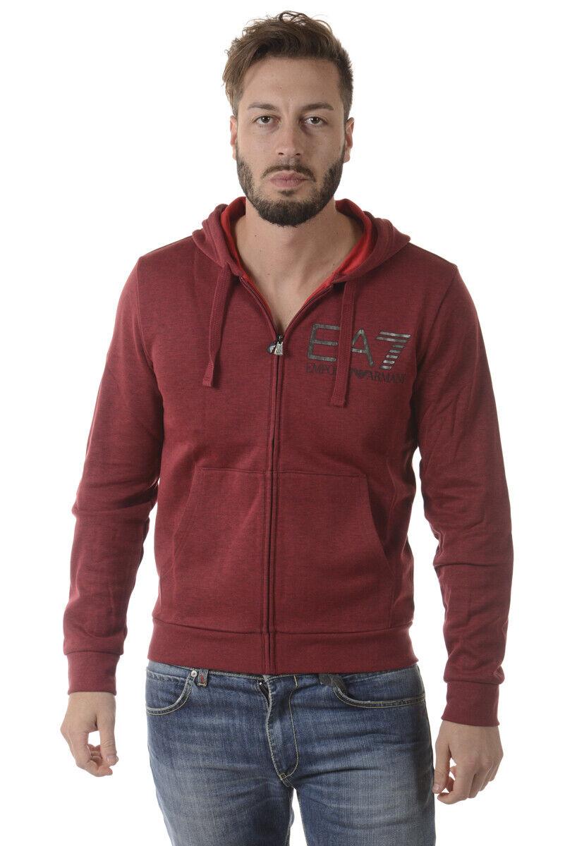 Emporio Armani EA7 Sweatshirt Man Bordeaux 6YPM77PJF3Z 3404 Sz.XL MAKE OFFER