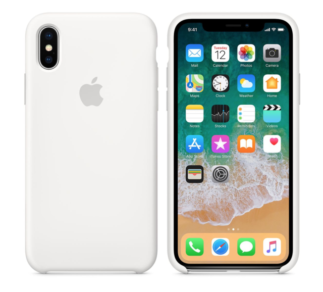 low priced 6b4bb 41e08 Apple iPhone X Silicone Case - White