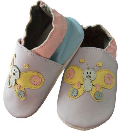Cuero apretamos zapatillas de casa 12 caracol 18 meses talla 21//22-l-Echt Leder nuevo