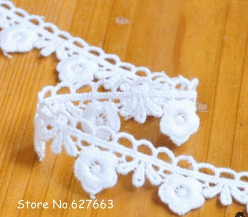 White small flower lace trim price for 1 yard ribbon with amazing design