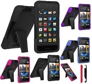 new product cf703 d7bae Details about AMZER Double Layer Hybrid Case Stand For Amazon Fire Apple  BlackBerry HTC One SV