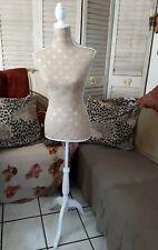 Female Mannequin Torso Dress Form Display Tripod Stand Half Length Lady Model