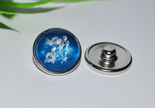 horóscopo button pulsador estrella caracteres pulsera snap anillo de cambio Selección +