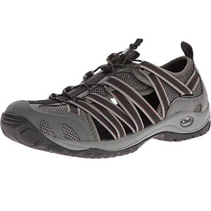 Chaco-Outcross-Lace-Gunmetal-Gray-Sport-Water-Shoes-Mens-Size-9