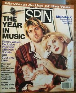 Spin Magazine Year In Music Kurt Cobain NIRVANA Courtney Love December 1992 NL