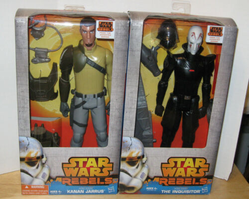 "Star Wars Rebels Hero Series 12/"" Kanan Jarrus /& The Inquisitor NIP VHTF"