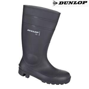 Mens Ladies Dunlop Safety Wellingtons Wellies Rain Mucker Steel Toe Caps Boots