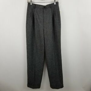 NWT Lauren Ralph Lauren Women's Pleated Dark Gray Career Dress Pants Sz 10 $159