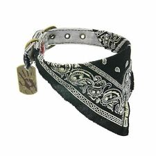"THE WALKING DEAD ""DARYL BANDANNA"" Dog collar SM 11""-14"" Neck NEW"