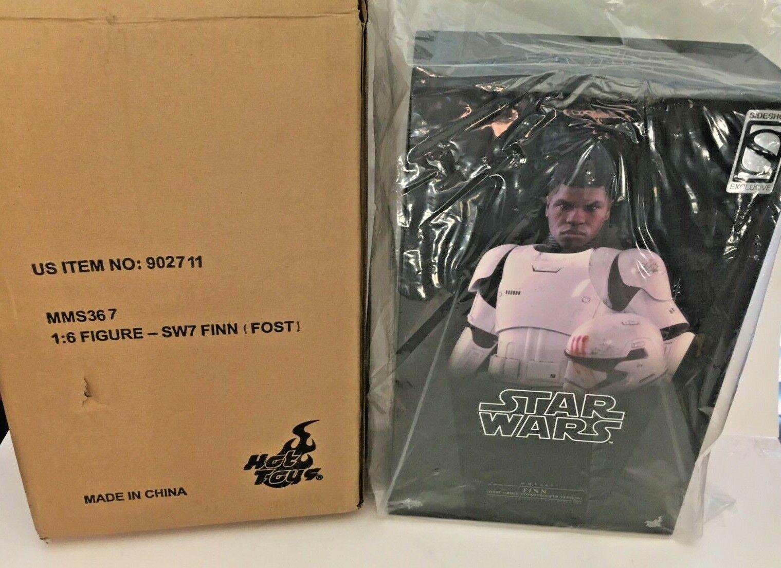 Caliente giocattoli MMS367 estrella guerras Finn (primero Order Stormtrooper  Ver) John Boyega  consegna e reso gratuiti