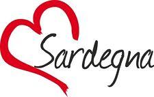"Auto Aufkleber "" SARDEGNA "" Sticker Sardinien Insel Italien ca.9x14cm konturges."