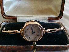 Antique rose gold 9ct ladies wrist watch
