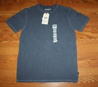 Mens Lee Premium Select Navy Texture Striped Henley S/s Shirt Size S Small