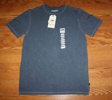 NWT Mens LEE Premium Select Navy Texture Striped Henley S/S Shirt Sz L Large