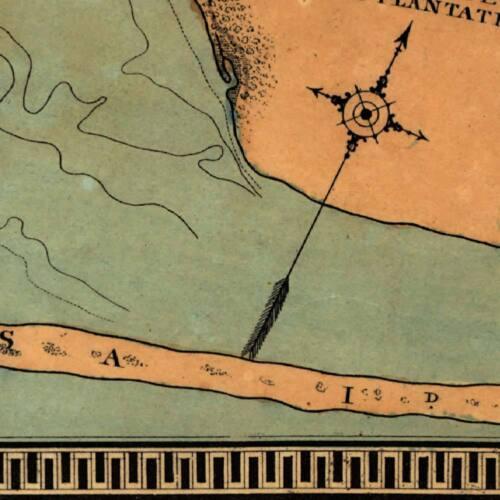 Elegant Color MAP of PENSACOLA BAY Florida /& Gulf of Mexico circa 1860 18x24