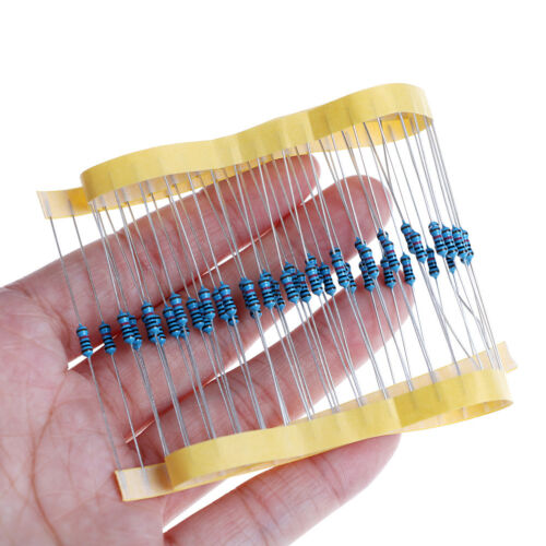 100pcs 1//4w Watt 10K ohm 10Kohm Metal Film Resistor 0.25W 100000R 1/% /_F