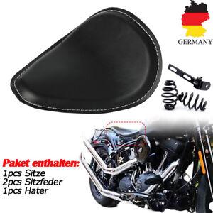 Solo-Sitz-Bobber-Seat-Motorradsattel-fuer-Harley-Sportster-Chopper-Custombikes