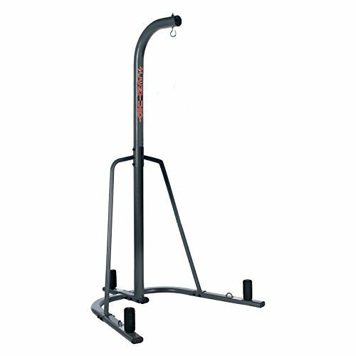 Gray Heavy Duty Punching Bag Stand Perfect for Boxers and Martial Artists