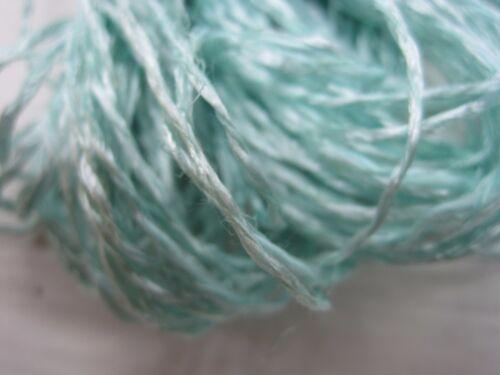 Laine à tricoter Häkelgarn-bleu//turquoise naturgarn 500gr Baumw//vis.//Lei 900m