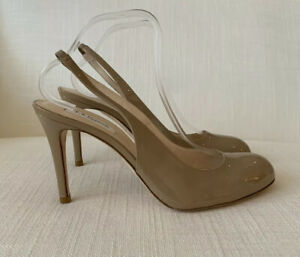 LK Bennett Sweep Nude Patent Court Shoes Size 42 NEW WITH