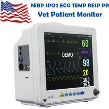 New Vet Multi Parameter Patient Monitor Vital Signs Nibp Spo2 Ecg Temp Resp Pr