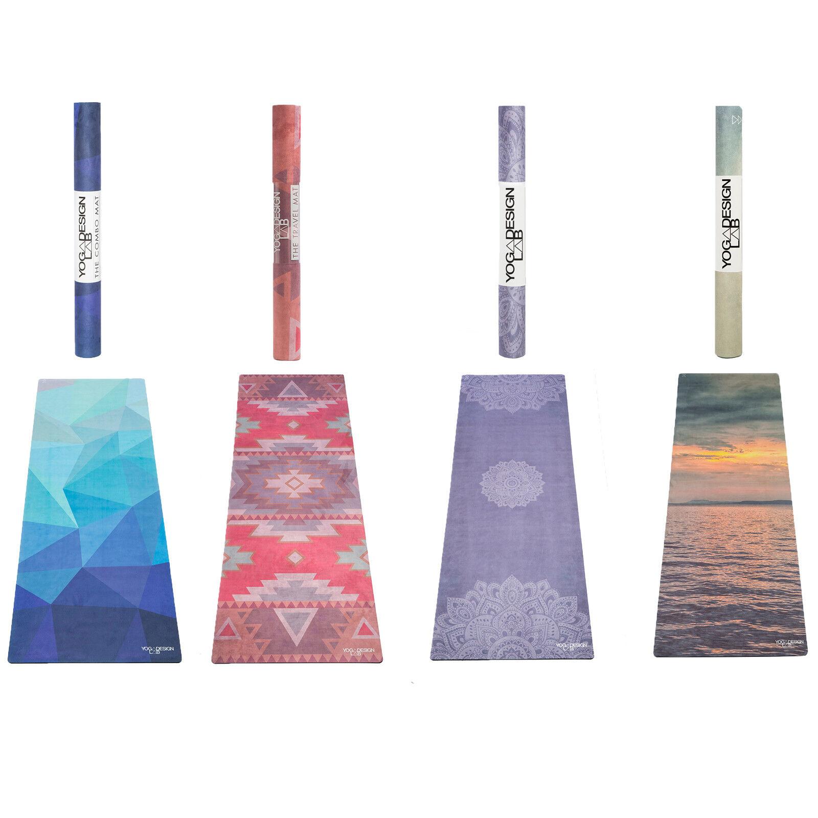 Yoga Design Lab Travel Super Lightweight Foldable Microfiber Surface Yoga Mat
