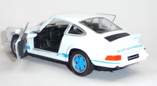 Voiture miniature 1:37 porsche 911 carrera rs welly article neuf 11,5 cm blanc//bleu v 1973