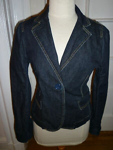 Size Marc Jean Nwot Denim Dark By Jacket Blue Blazer 12 Jacobs WqHBH6wz