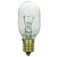 15T7C 15 Watt E12 Candelabra Base Exit Sign Appliance Clear Light Bulb 6 Pack