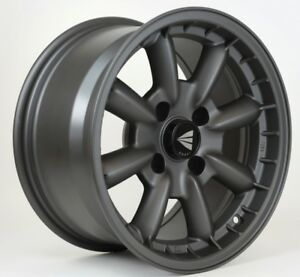 15x8-Enkei-COMPE-4x100-25-Gunmetal-Wheels-Rims-Set-4