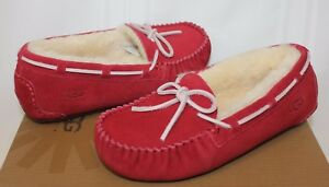 8e152d03a99 Details about Ugg Kids Dakota Moccasin Jester Red Suede shoes NEW