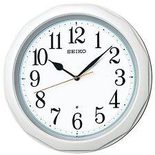 SEIKO CLOCK Wall clock Radio Wave Analog White pearl KX214W
