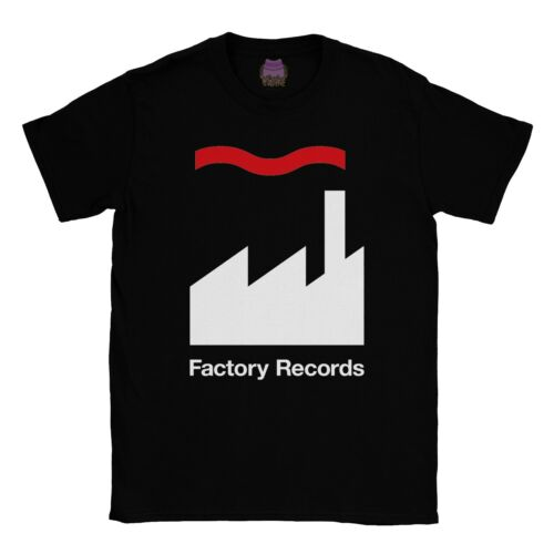 FACTORY RECORDS retro Record Label Clothing Homme Musique T-SHIRT HAPPY MONDAYS