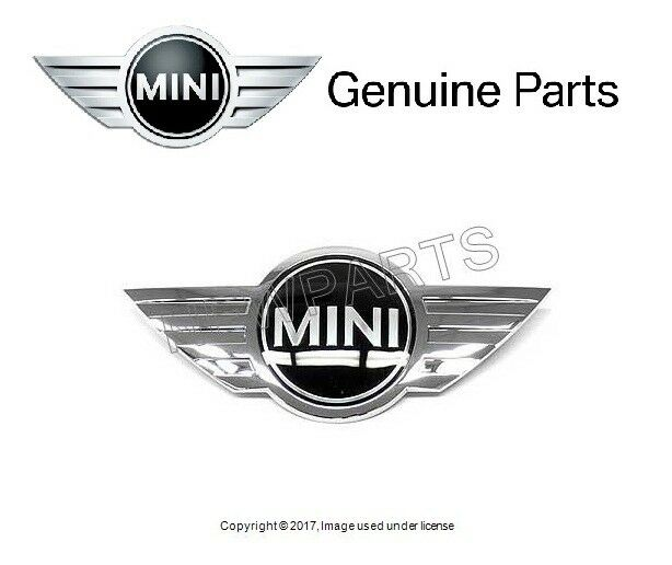 Genuine MINI R50 R52 Cabrio Hood MINI Emblem Badge Logo Chrome OEM 51147026184