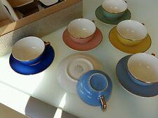 Belles  tasses  de  couleurs   vintage Villeroy  et  Boch  avec sa boite d origi