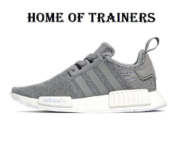 Adidas Originals NMD_R1 Gris Girls femmes Trainers All Sizes