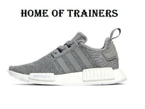 4c246a35a6fd Adidas Originals NMD R1 Grey Girls Women s Trainers All Sizes S76907 ...