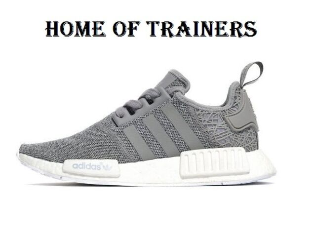 sneakers for cheap 46dcd bcbb3 Adidas Originals NMD_R1 Grey Girls Women's Trainers All Sizes S76907 (PTI)