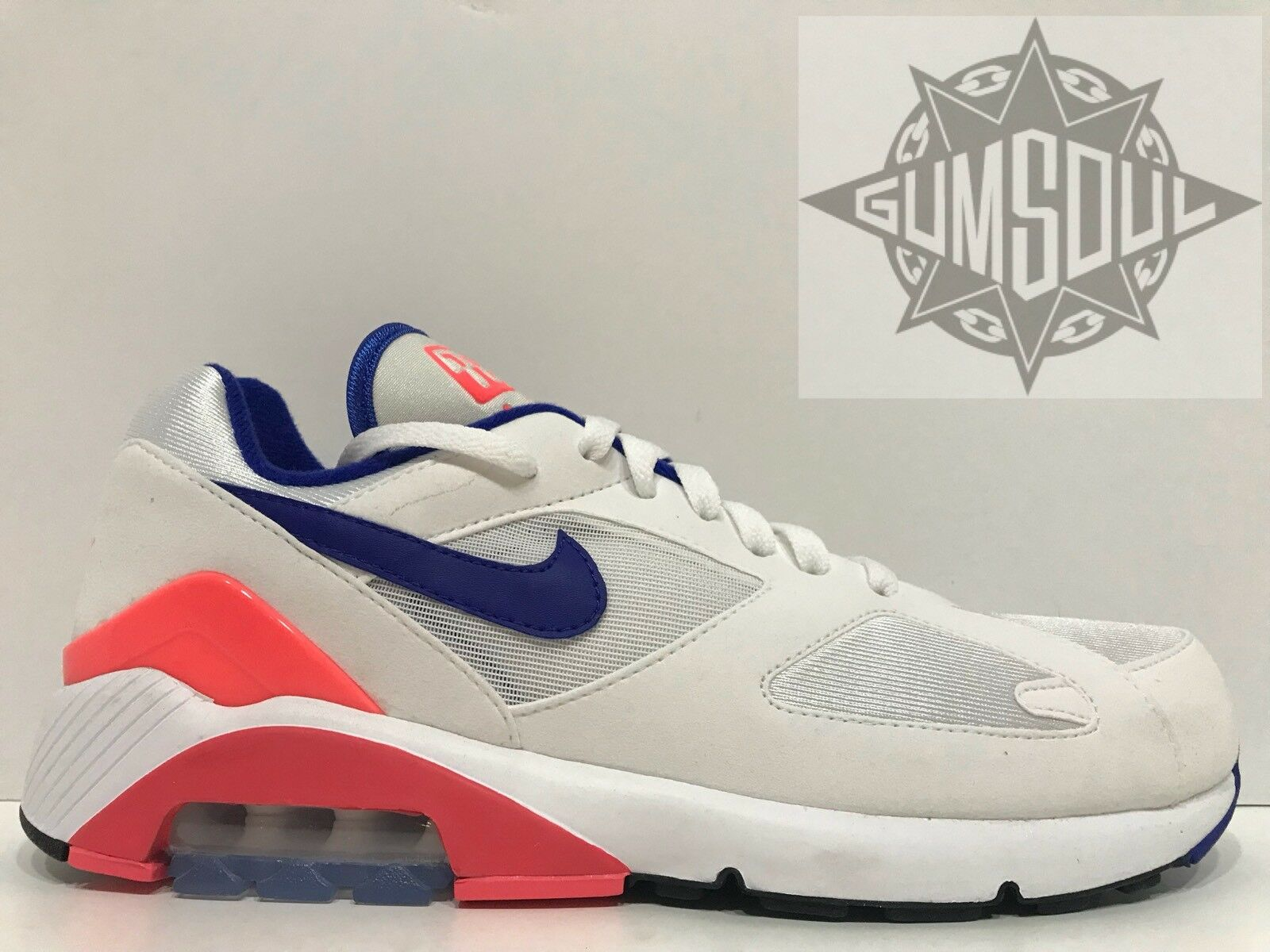 2018 NIKE AIR MAX 180 OG WHITE 615287 ULTRAMARINE SOLAR RED BLUE 615287 WHITE 100 sz 9.5 817edb