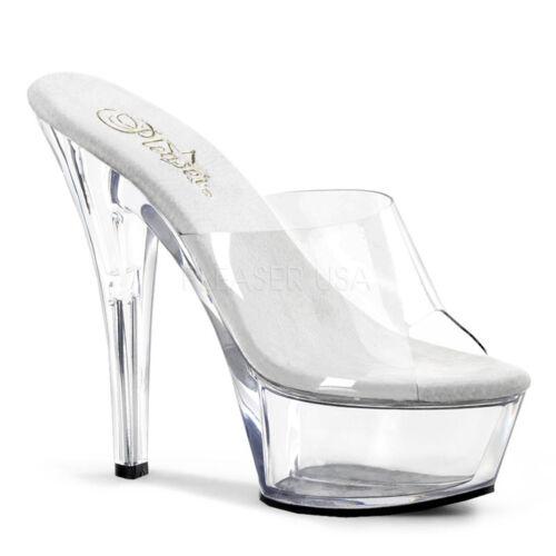 Black Clear Platform Drag Queen Fetish Stripper Mens High Heels Shoes size 12 13