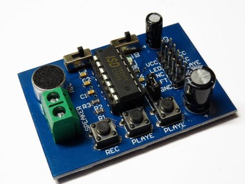 Isd1820 Voice Recorder module board mic argile linguistiques Enregistrement Lecture Arduino