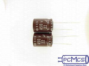 10 pc Lot 22uF 250V   EKXG Electronic Cap Radial Lead United Chemi-Con