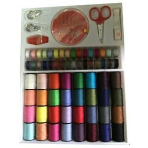 64-Rolls-Sewing-Machine-Line-thread-Spool-Kit-Set-Bobbin-Cotton-Reel-Needle-he