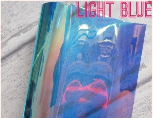IRIDESCENT DREAM  COLOUR TRANSPARENT PVC A4 CHOICE OF COLOUR RAINBOW ADDED