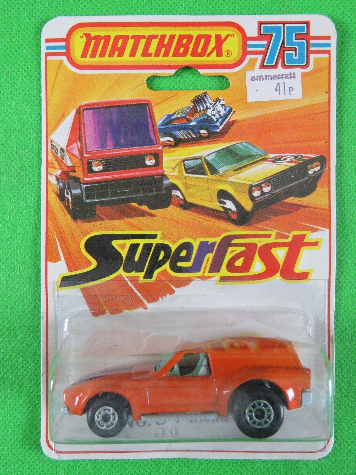 Jahrgang 1976   34 vantastic mint matchbox superfast auf  selten  blisterpackung