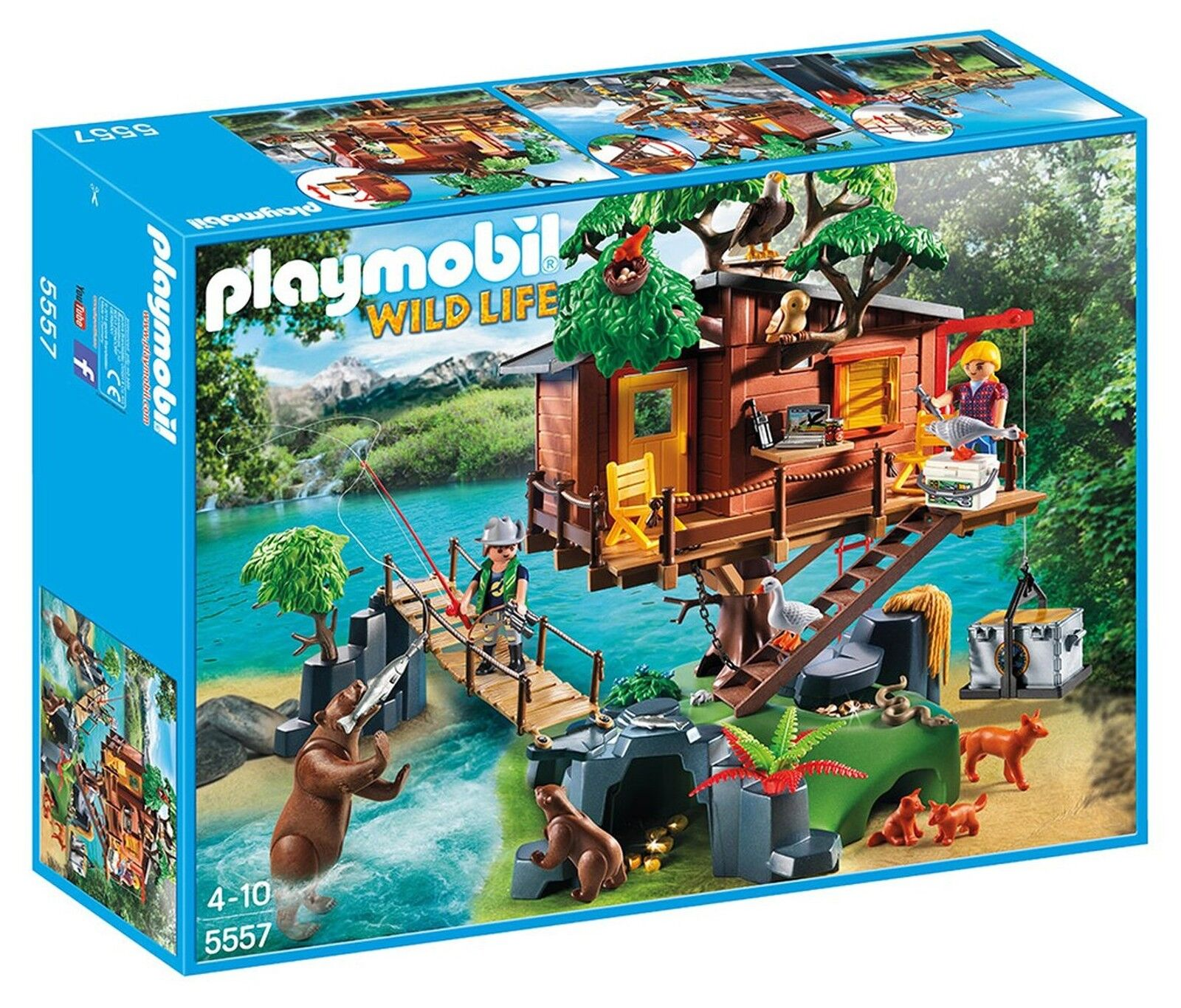 Playmobil 5557 animaux sauvages aventure Tree House Playset