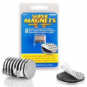 selbstklebende magnete 8 st ck extra stark neodym magnet set selbstklebend 95421075270 ebay. Black Bedroom Furniture Sets. Home Design Ideas